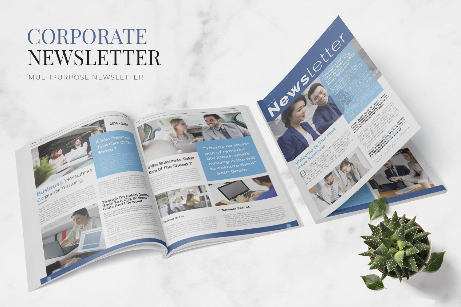 Corporate Issue Newsletter Template example image 1