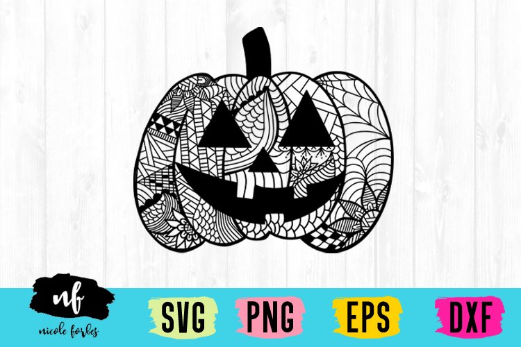 Halloween Zentagle SVG Bundle example image 5