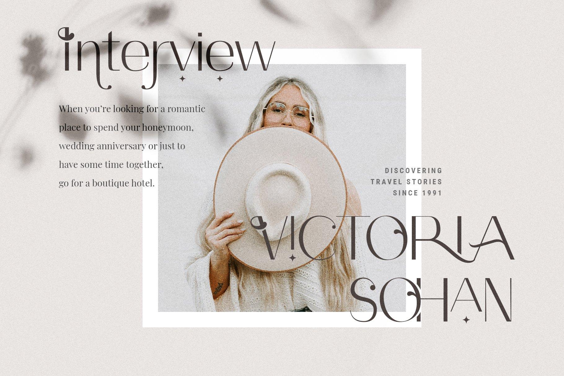 Celine - Chic Ligature Sans Font & Extras example image 2
