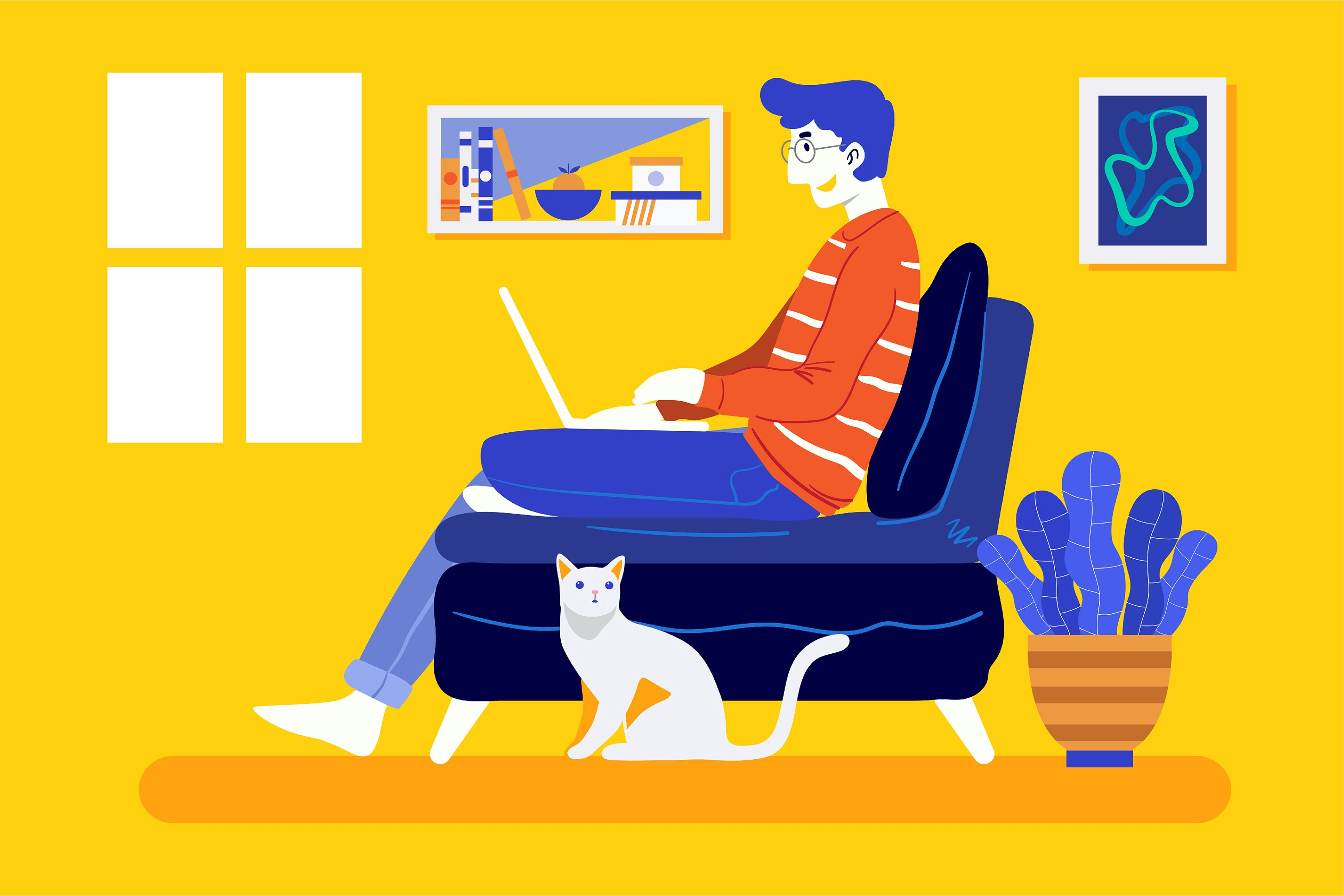 4 Bundle Illustration Style Work From Home example image 5