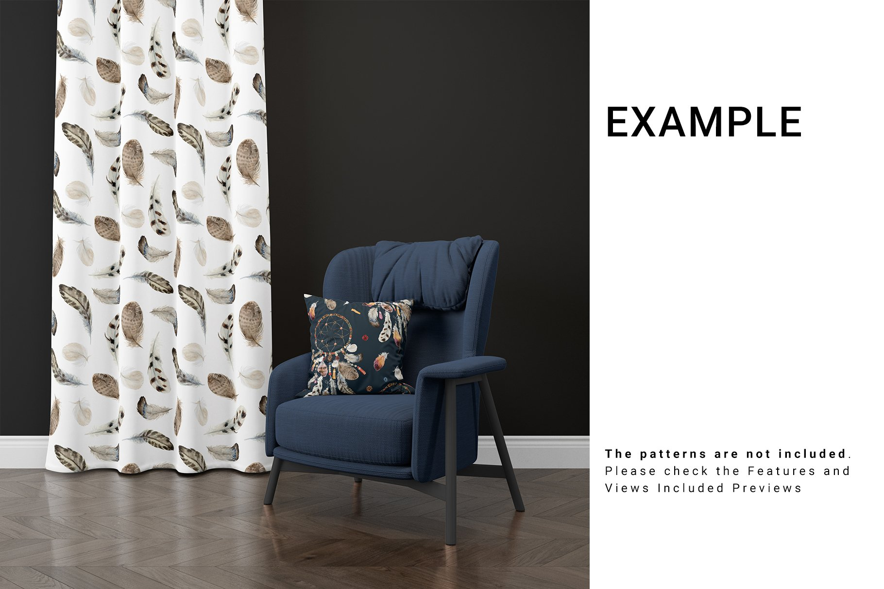Curtains and Pillow Set example image 11