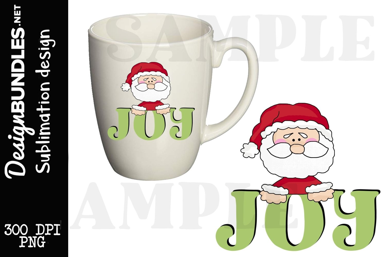 Joy Santa Sublimation Design example image 1