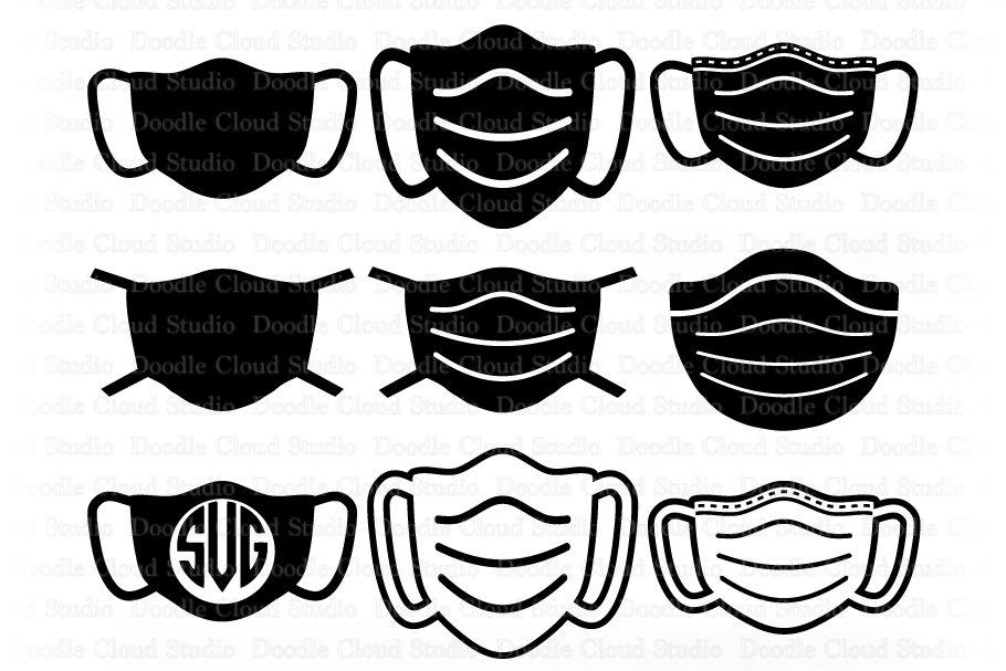 Nurse Mask Svg Face Mask Bundle Svg Medical Mask Svg Files 543341 Cut Files Design Bundles