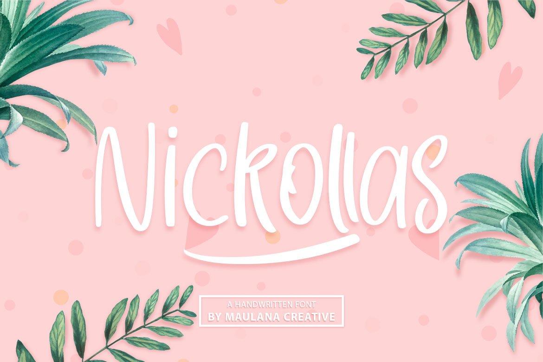 Nickollas - Handwritten Sans Serif Font example image 1