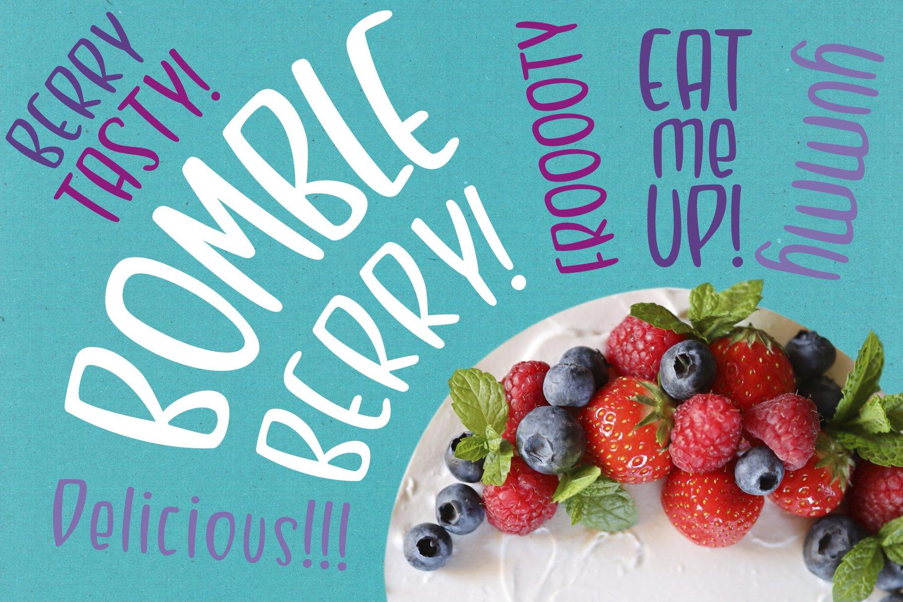 Bombleberry - a playful & tasty font example image 1