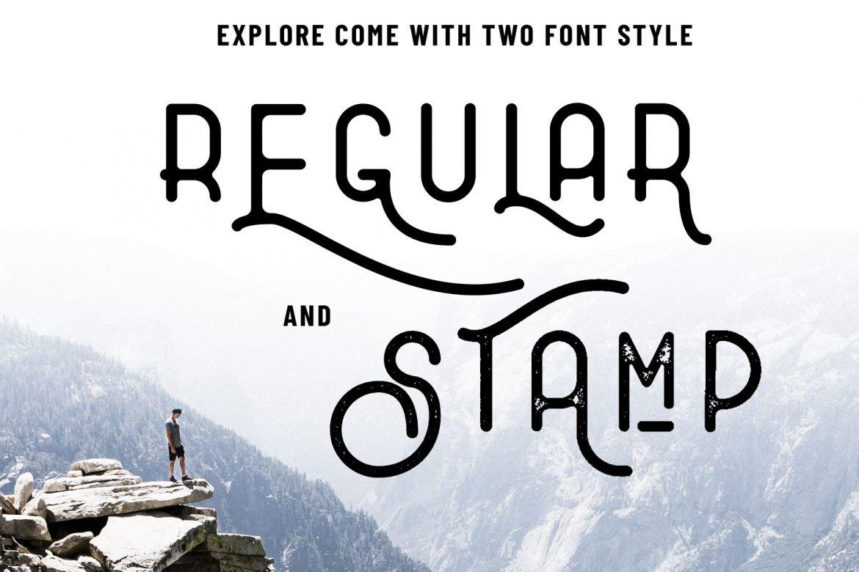 Explore - Combination Typeface example image 7