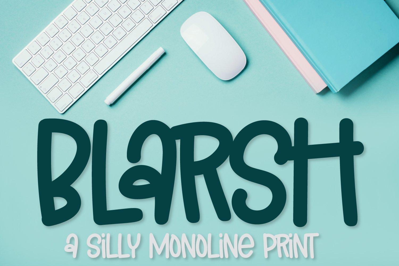 Blarsh - A Silly Monoline Print example image 1