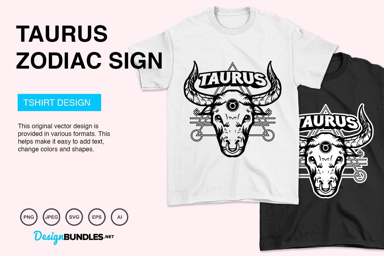 Taurus Zodiac Sign Vector Illustration example image 2
