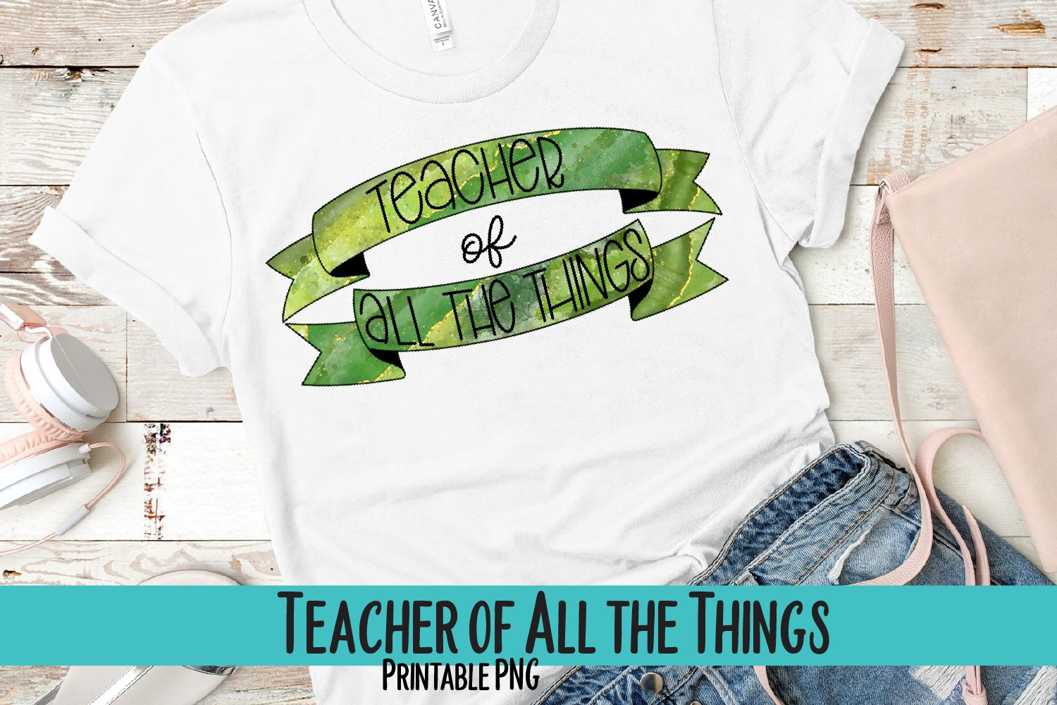Teacher of All the Things Sublimation PNG example image 1