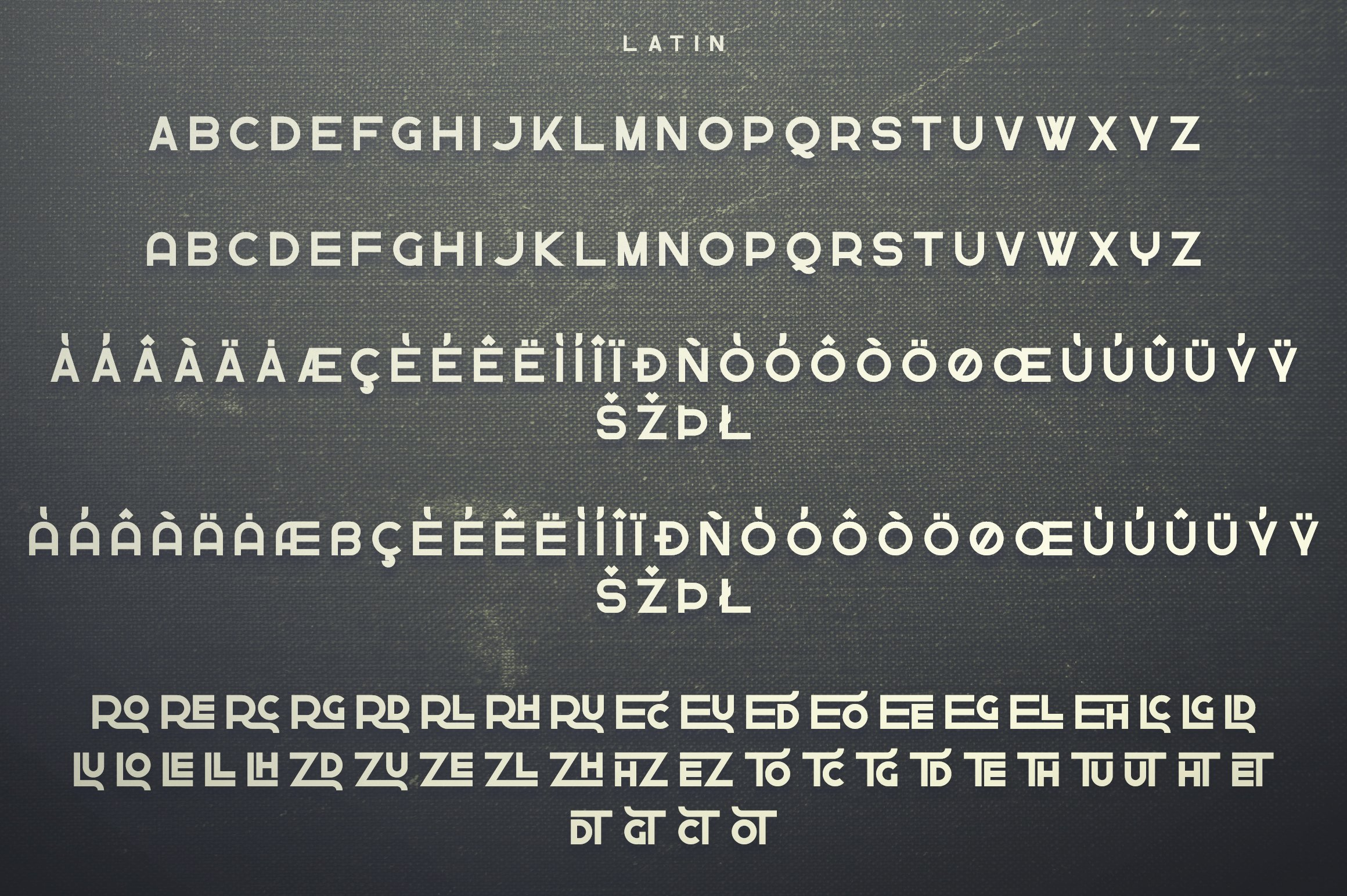 Greenth Display | Latin & Cyrillic example image 10