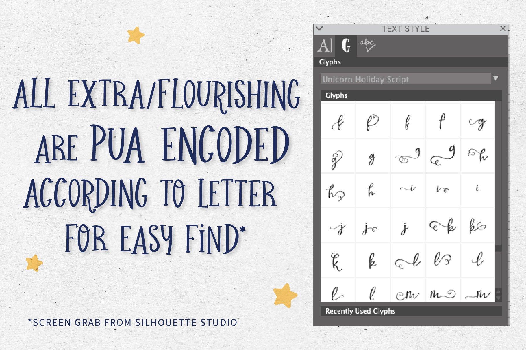 Unicorn Holiday Font Duo example image 6