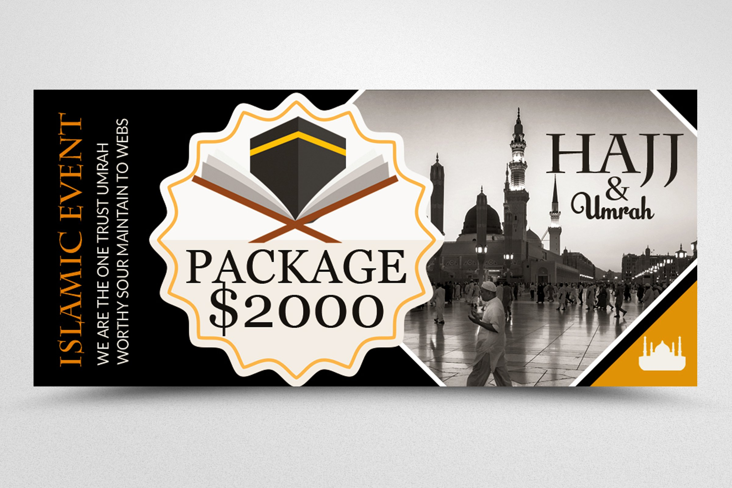 Hajj & Umrah Packages Facebook Banner example image 3