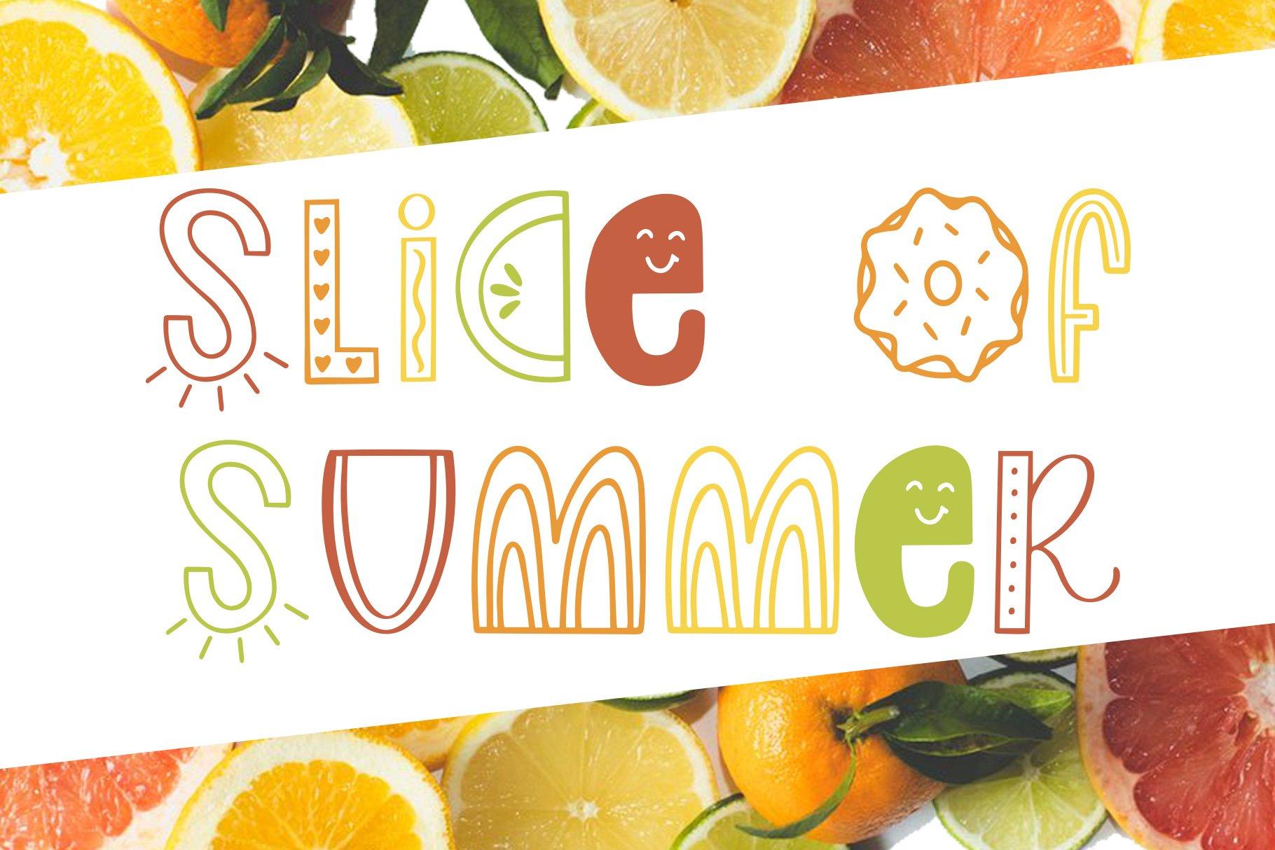 Slice of Summer, Symbols Font example image 1