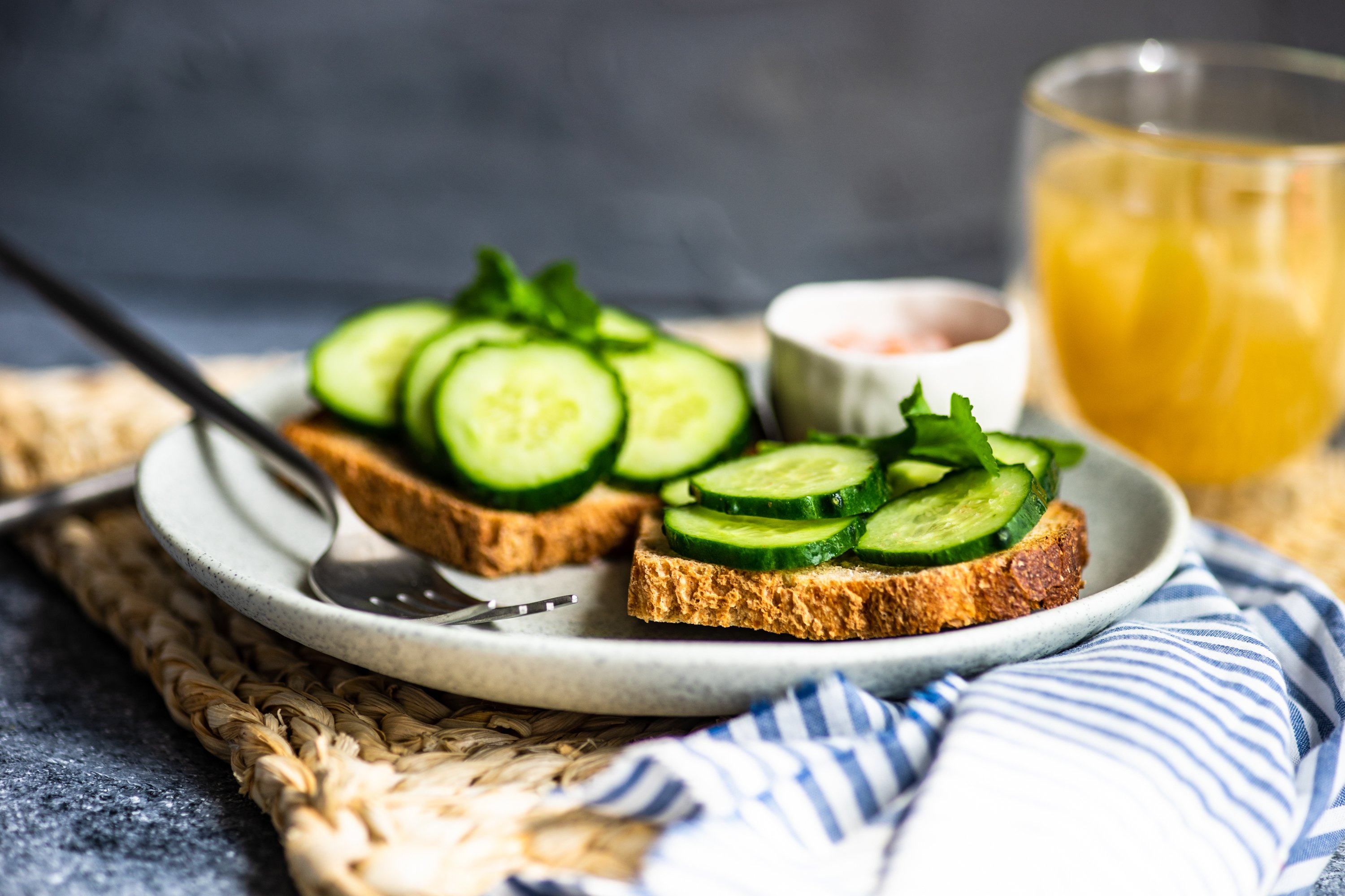 Healthy lunch concept with toasts example image 1