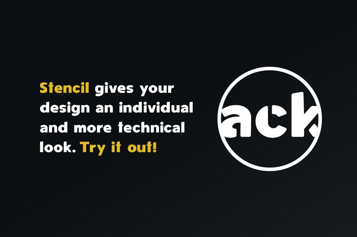 Spotlight - Sans Serif Regular with optional Stencils example image 2