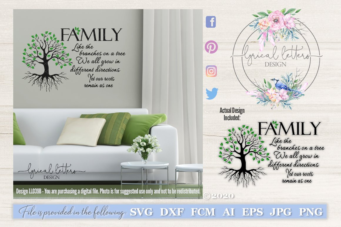 Family Like The Branches On A Tree Svg Cut File Ll039b 12633 Cut Files Design Bundles