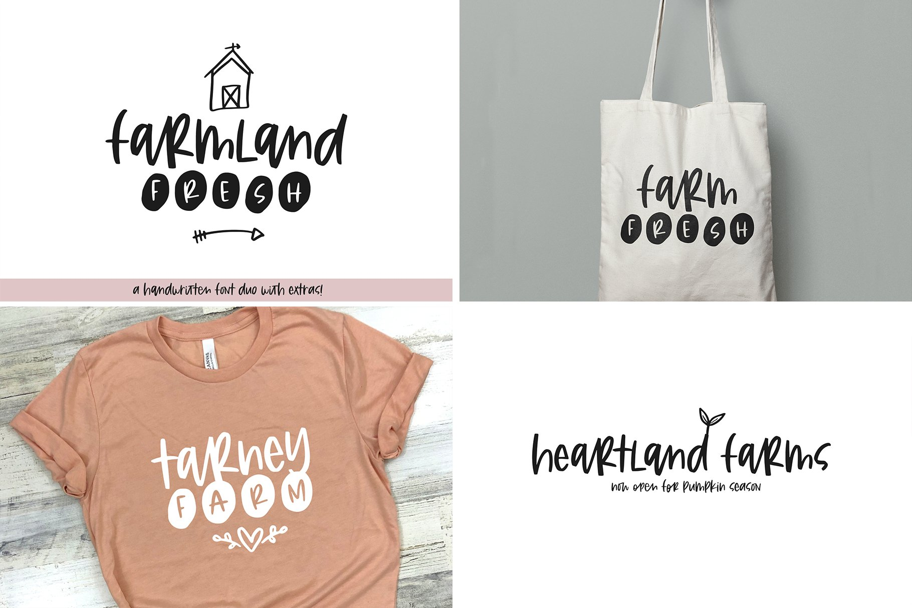 Farmhouse Font Bundle - Handwritten Fonts for Crafters! example image 7