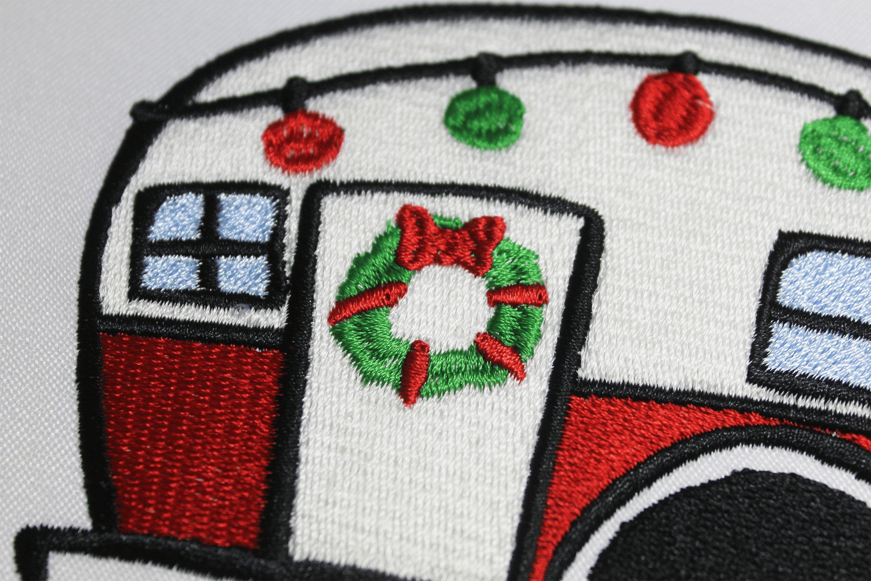 Christmas Trailer Emroidery 3 sizes example image 3