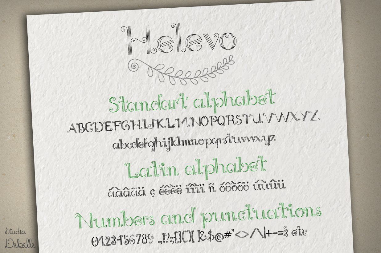 Helevo - Font and Ornaments - Quilling Pack example image 4