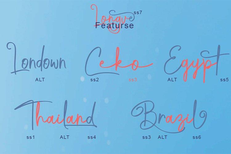 Longve    Elegant Handwriting Font example image 4
