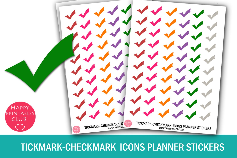 Download Tickmark Checkmark Icons Planner Stickers Tickmark Stickers 458558 Checklists Design Bundles