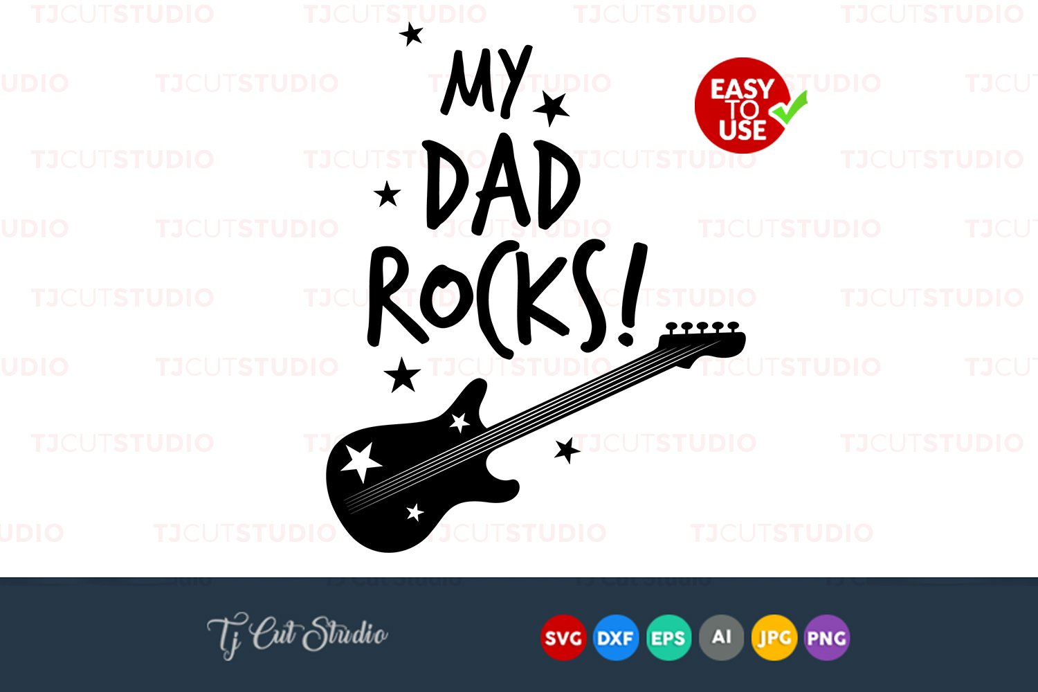 My Dad Rocks Svg My Dad Rocks Quote Svg Files For Silhouette Cameo Or Cricut Commercial Personal Use 96415 Cut Files Design Bundles