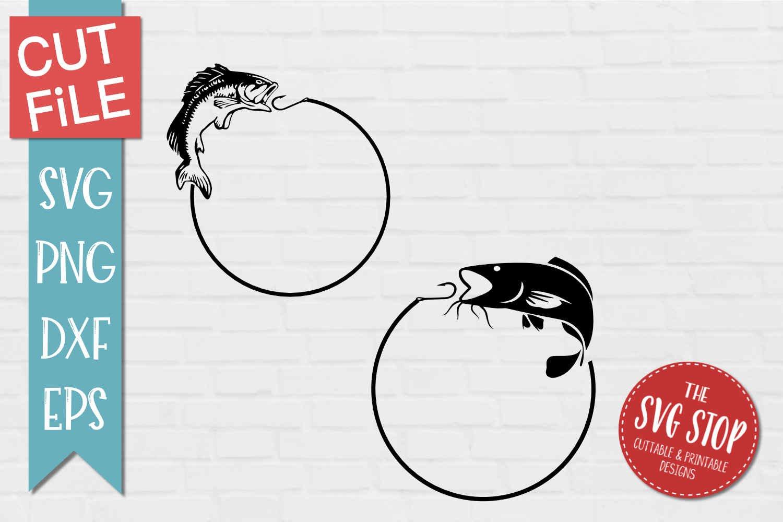 Download Fish Hook Monogram Frames Svg Png Dxf Eps 341094 Svgs Design Bundles