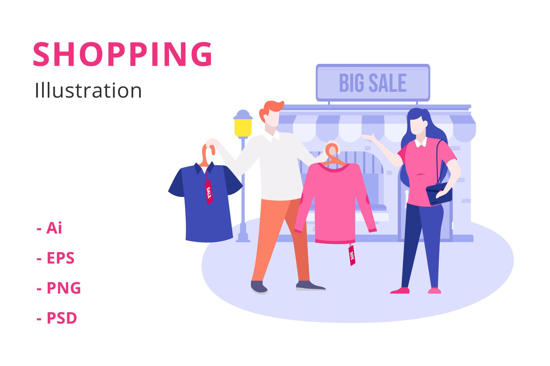 Shopping Illustration example image 1
