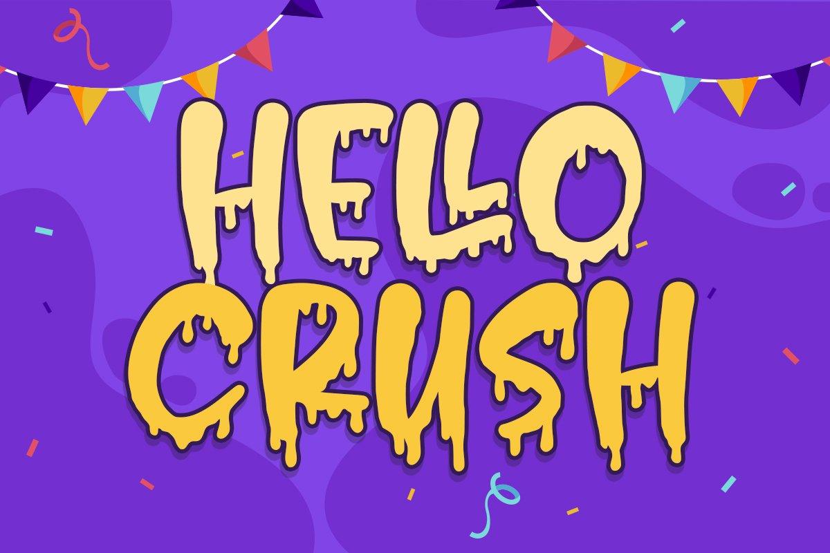 Hello Crush - Halloween Font example image 1