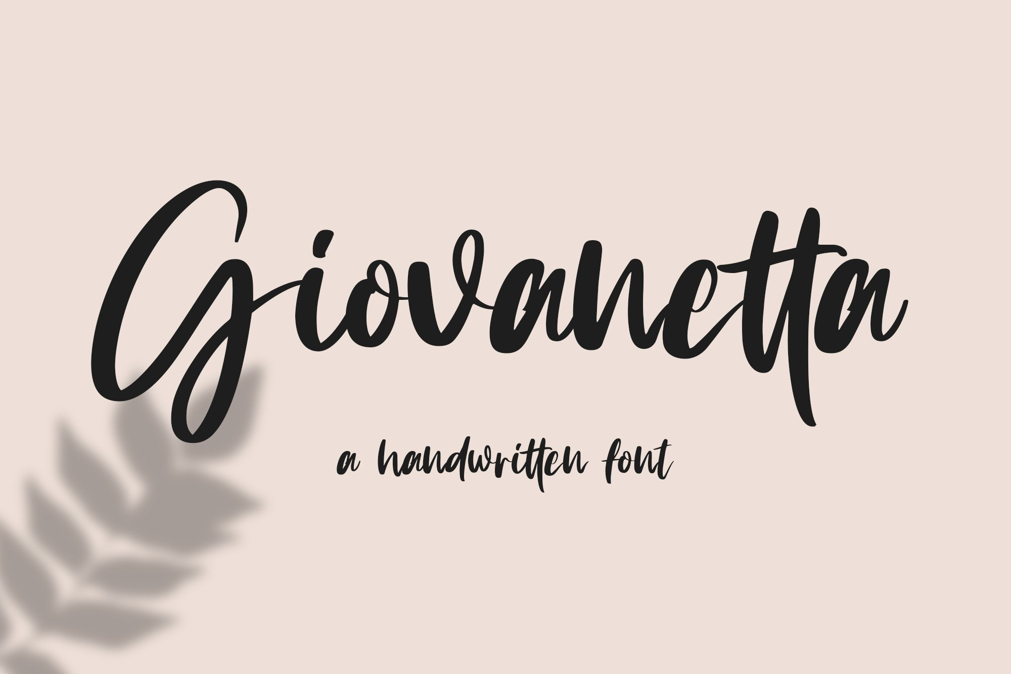 Giovanetta handwritten font example image 1