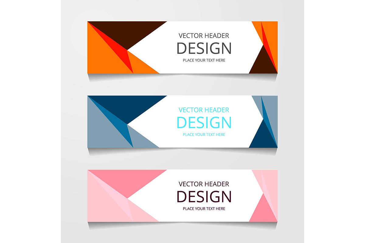 Vector design Banner background modern.Web template example image 1