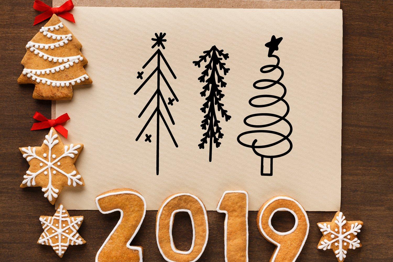 Christmas Tree Farm - A Dingbat Font example image 2