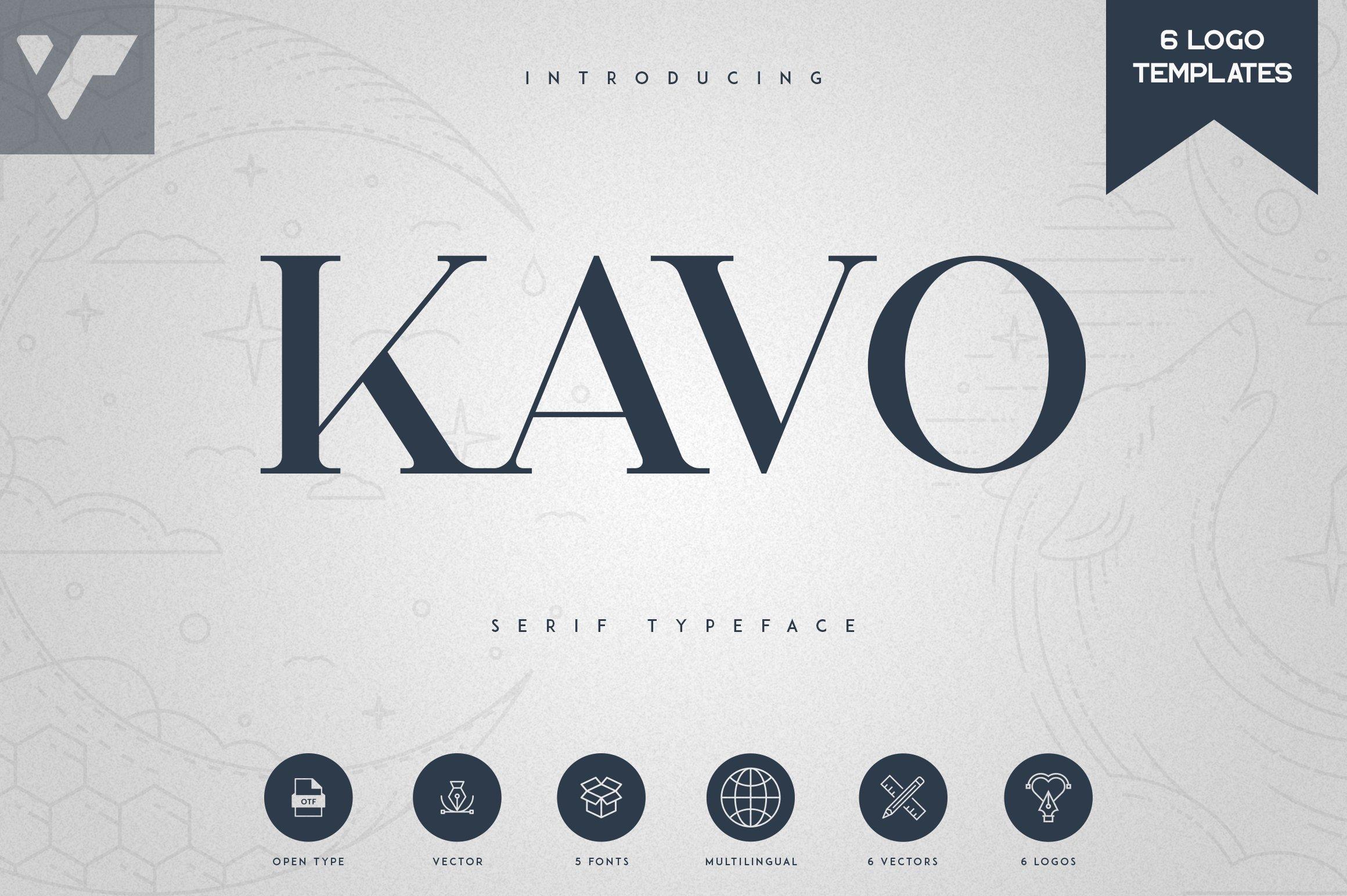 Kavo Serif Typeface | 5 weights example image 1