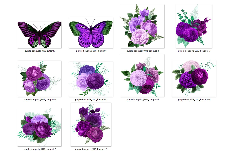Purple Bouquets Clipart example image 2