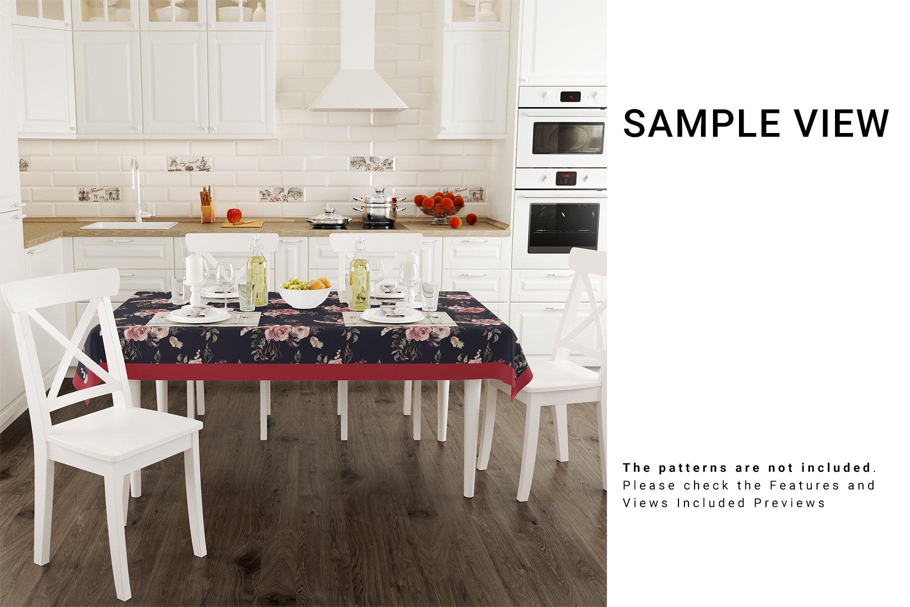 Kitchen Tablecloth 3D Mockup Set example image 6