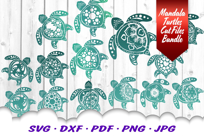 Big Mandala Sea Turtle Svg Dxf Cut Files Bundle 420252 Svgs Design Bundles
