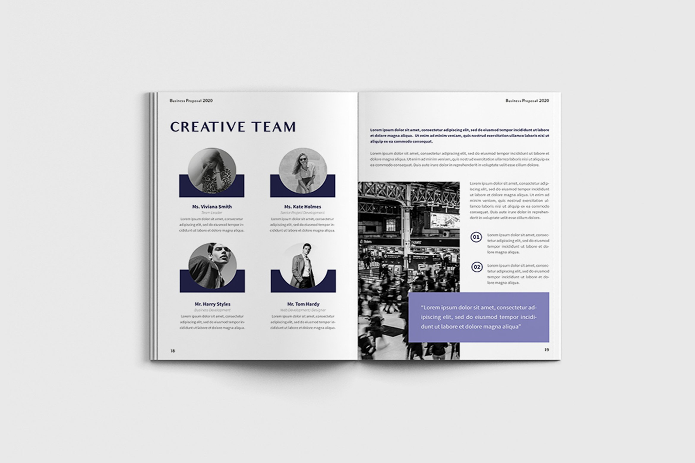Exposina - A4 Business Brochure Template example image 11