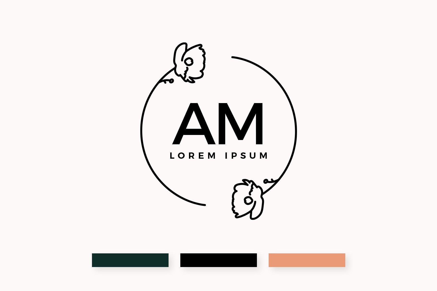 Monogram Logo & Business Card Templates example image 2