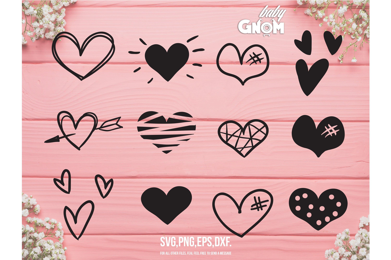 Hearts Svg Heart Svg Heart Cut File Hearts Cut File Dood 756494 Illustrations Design Bundles
