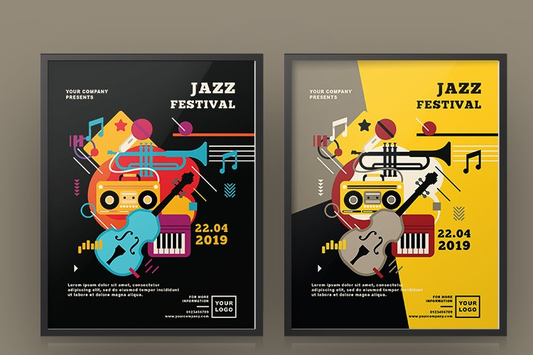 JAZZ FESTIVAL FLYER OR POSTER example image 1