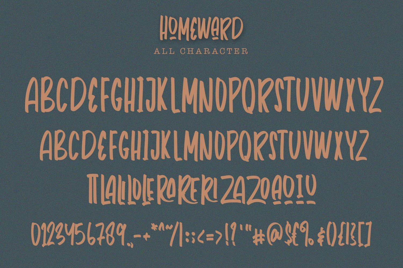 Homeward - Handwritten Font example image 7