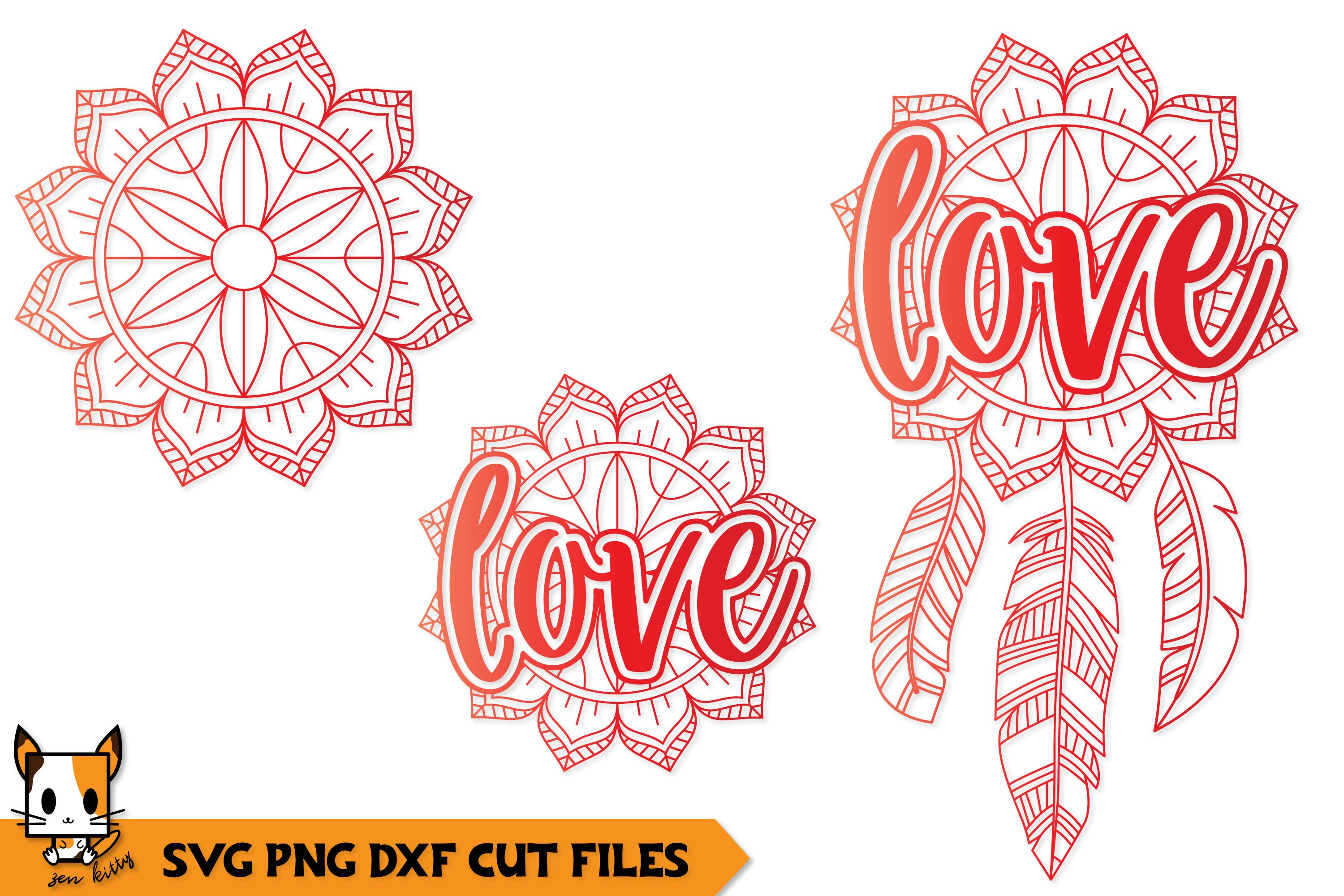 1213+ Love Mandala Svg for Silhouette