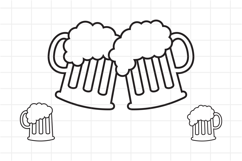 Beer Svg Beer Mugs Cut File For Cricut 844483 Cut Files Design Bundles