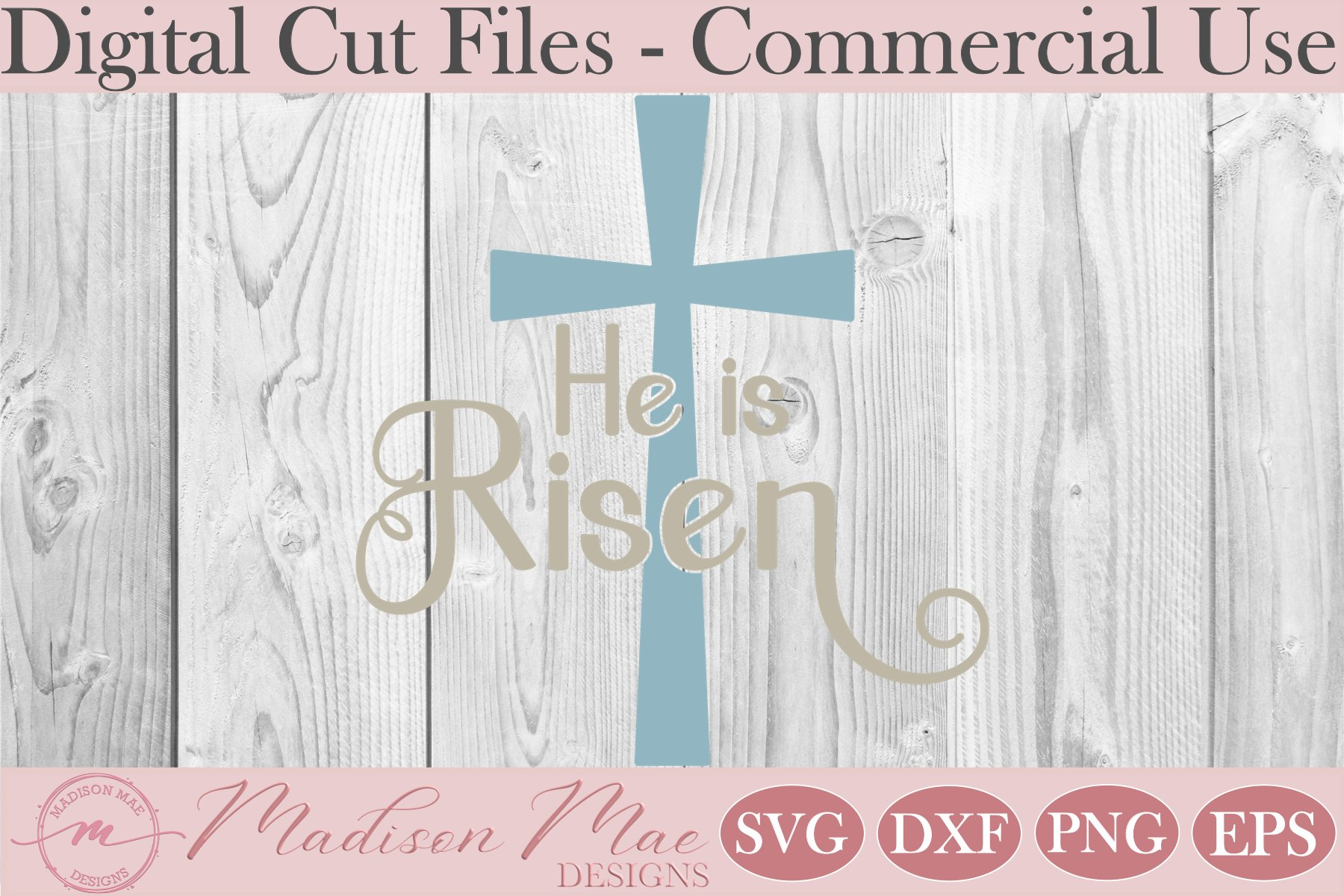 He Is Risen SVG, Jesus SVG, Easter Cut File example image 2