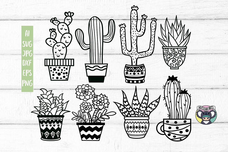 Cactus Clipart Succulents Svg Home Svg Silhouette Cricut Svg Bundle 12  Cactus Svg files Succulent Svg Vector Succulent Clip art