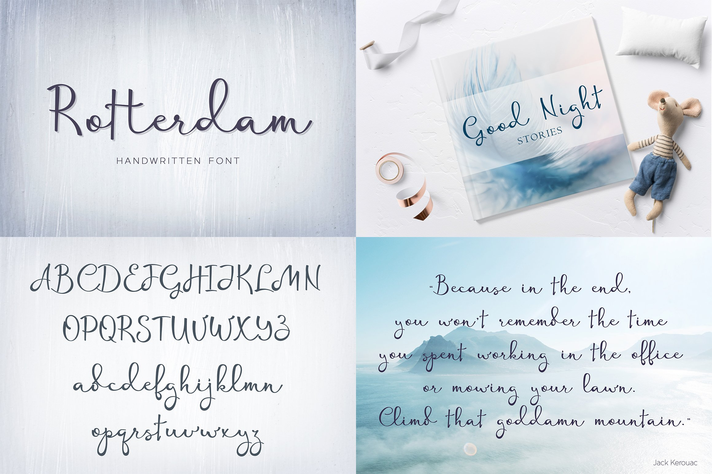 Font bundle - 6 handwritten and calligraphy fonts example image 4