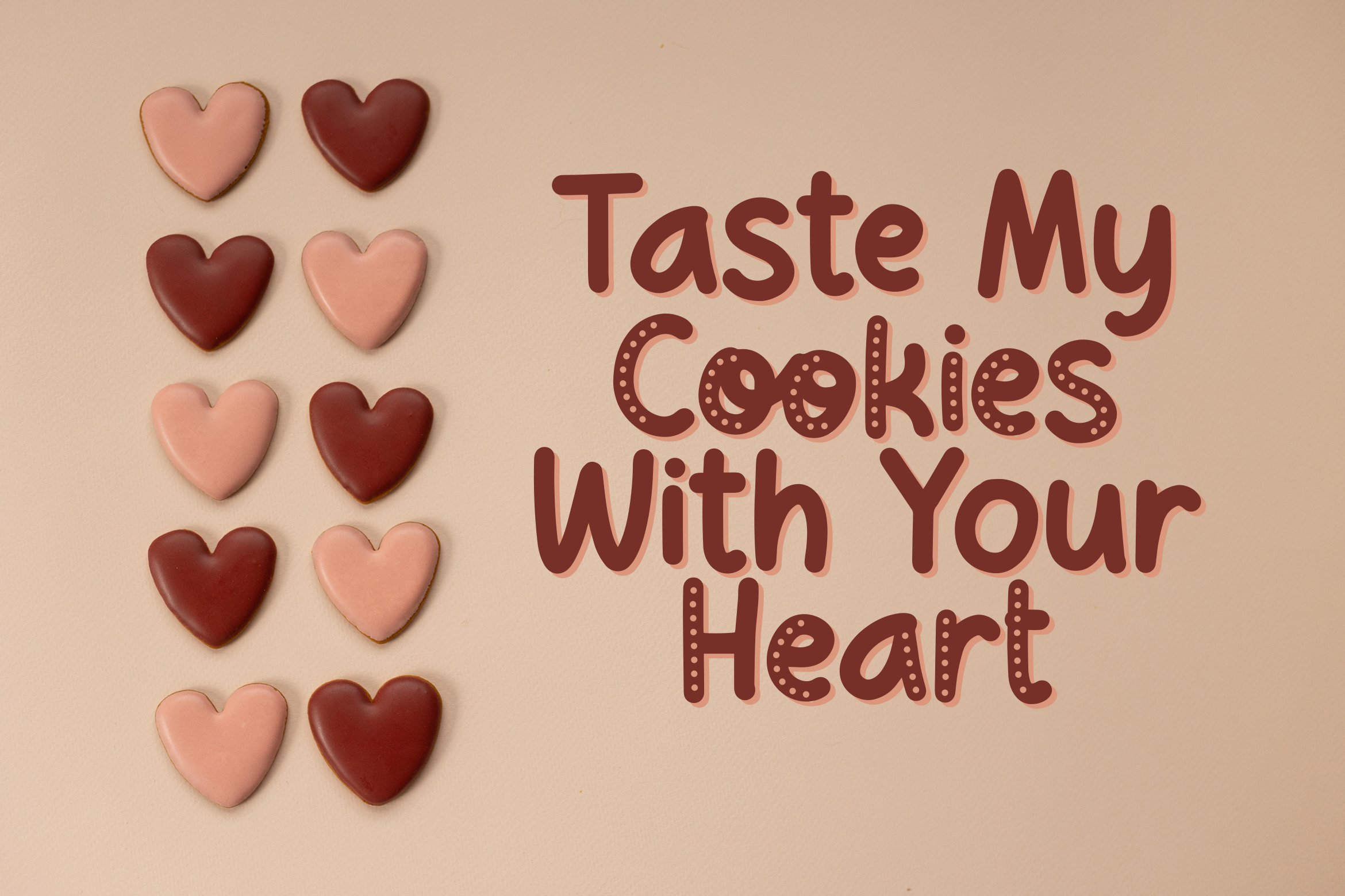Choco Cookie - Playful Duo Font example image 4