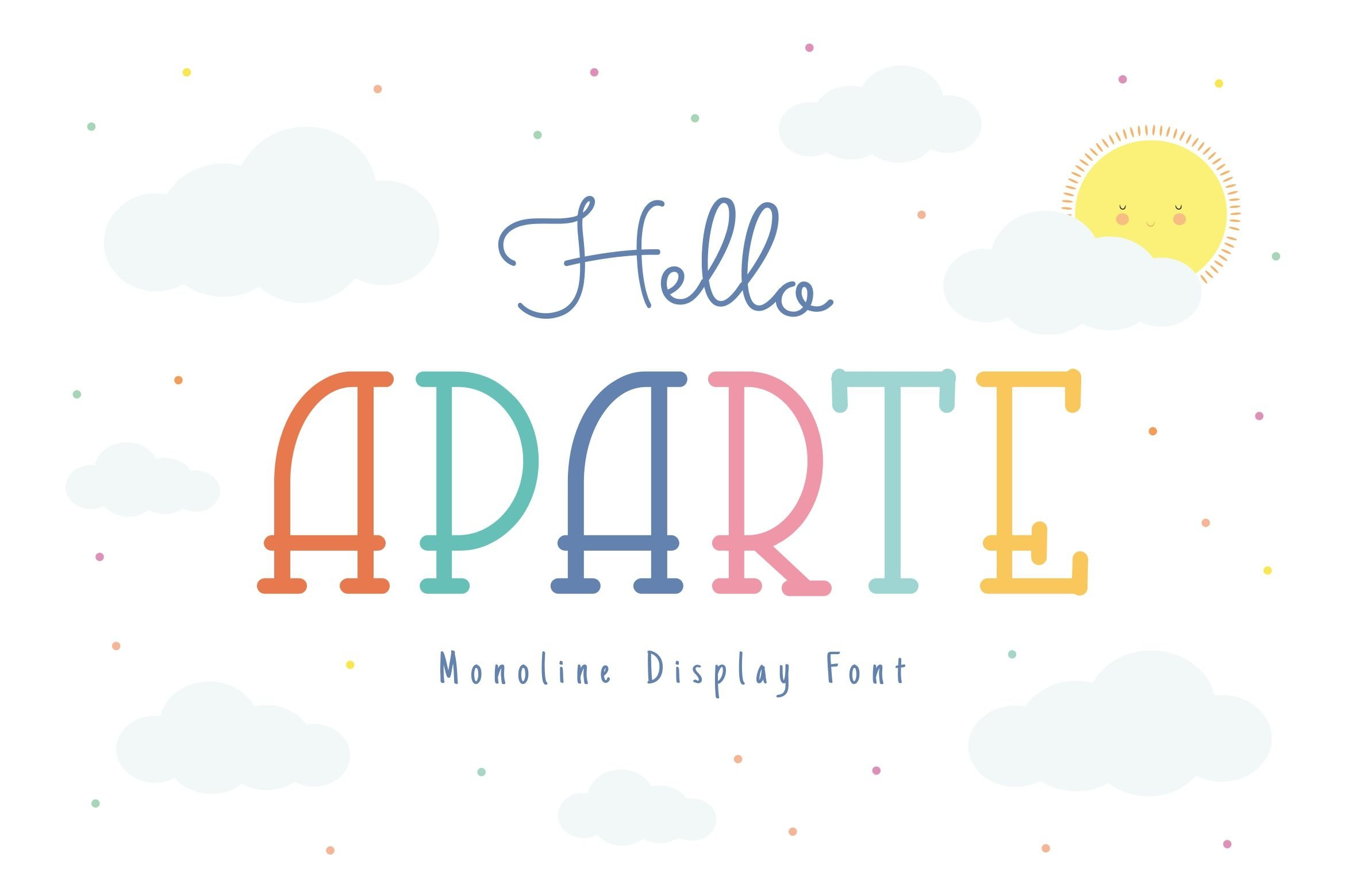 Aparte Single Line Font example image 1