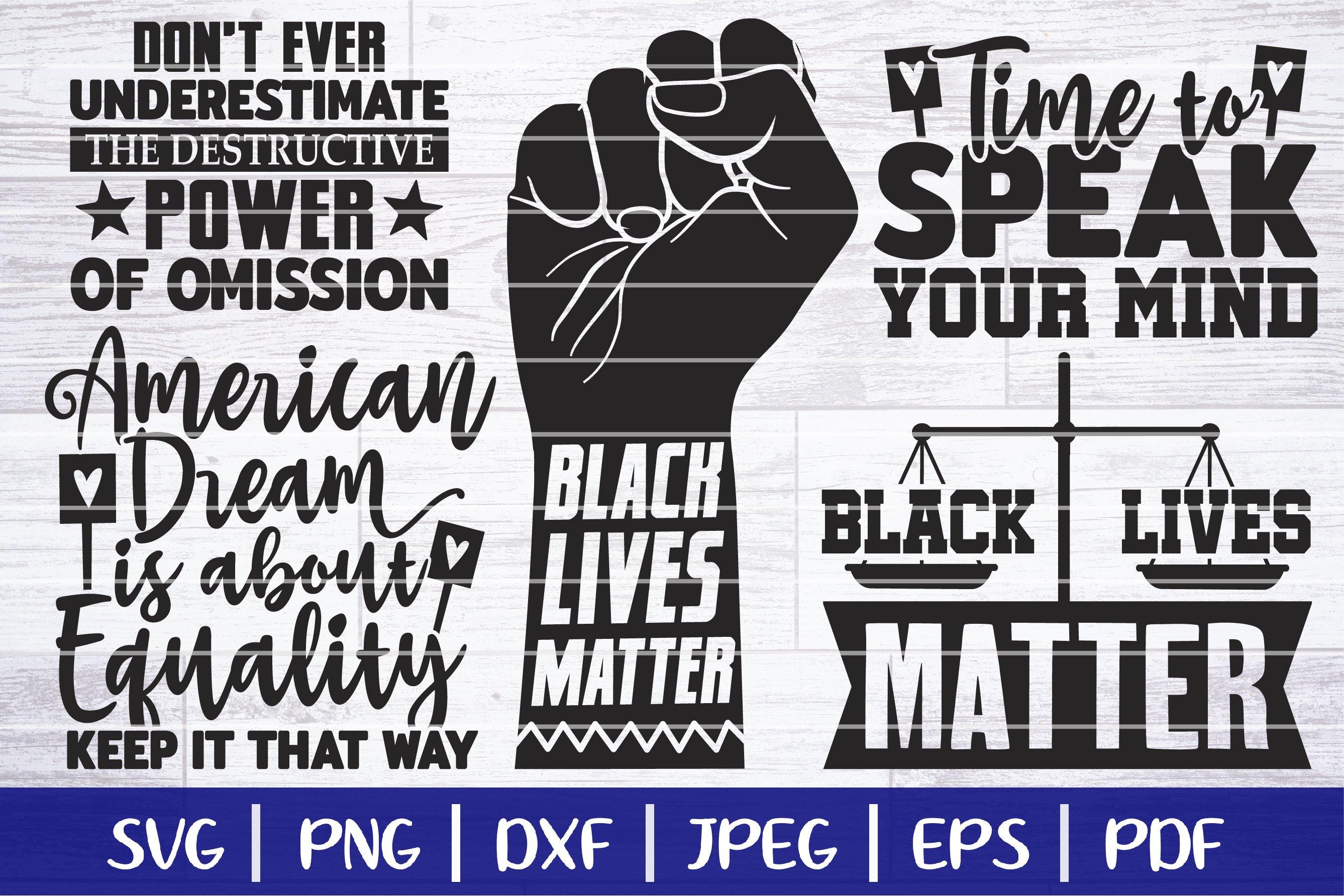 Black Lives Matter SVG Bundle - BLM SVG Bundle example image 1