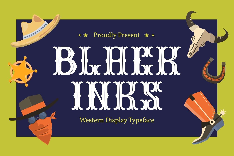 Black Inks - Western Display Typeface example image 1